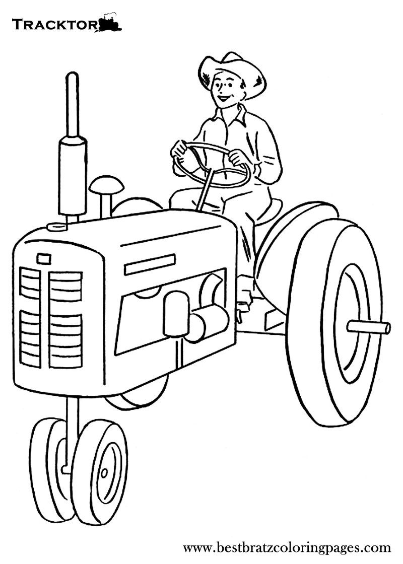 Coloring Pictures John Deere Tractors - Free printable tractor coloring pages for kids