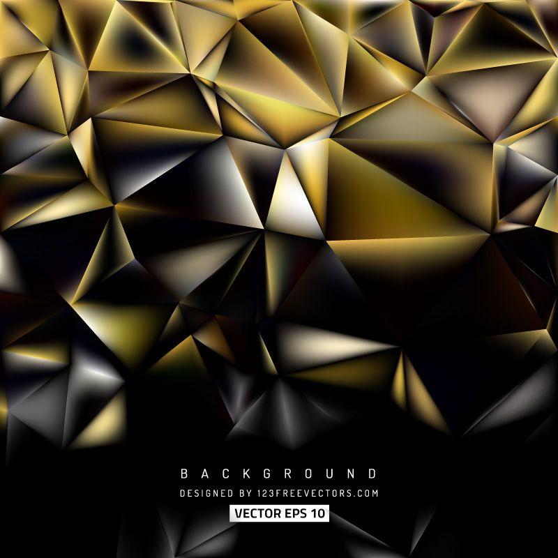 Black Gold Polygonal Background Design In 2019 Glitter