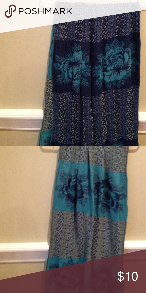 Blue beautiful scarf It's so pretty and over 5 ft Accessories Scarves & Wraps