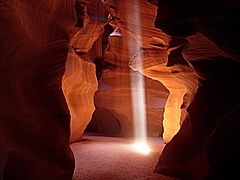 Antelope Canyon, Ray of Light by Artusi.