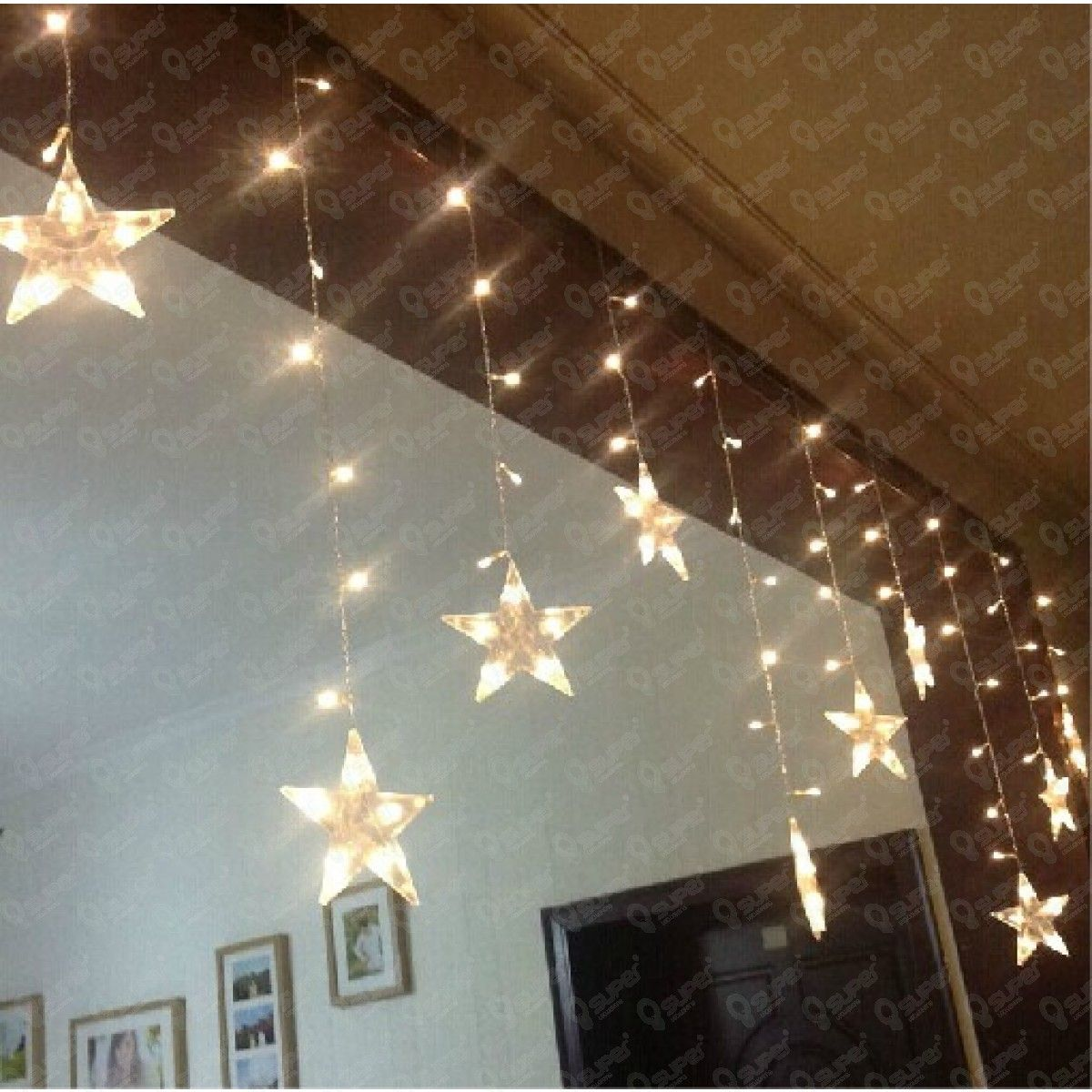 multicolor led star string lights battery operated for indoor