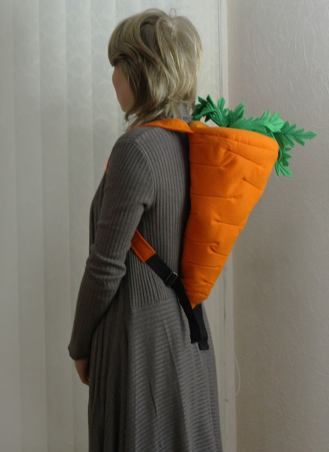 0a3e34d6588bb Orange Felt Carrot Backpack. via Etsy.  Donna Christensen can t we make  something epicly awesome like these ! !  -D And a Radish  maybe