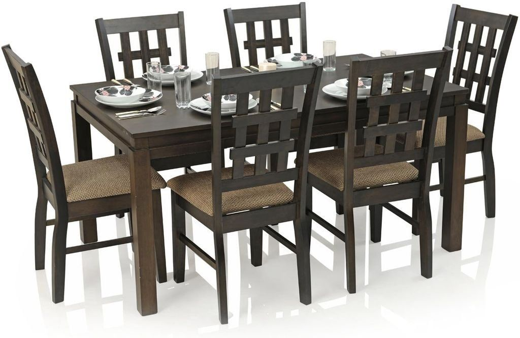 Royal Oak Daisy Six Seater Dining Table Set Walnut Amazon In Home Kitchen Dining Table Setting Dining Table Dining