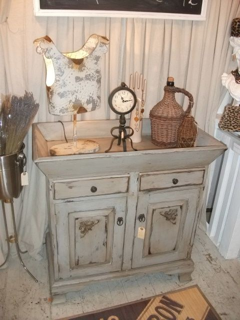 Old Dry Sink Could Use Old Small Dresser With Large
