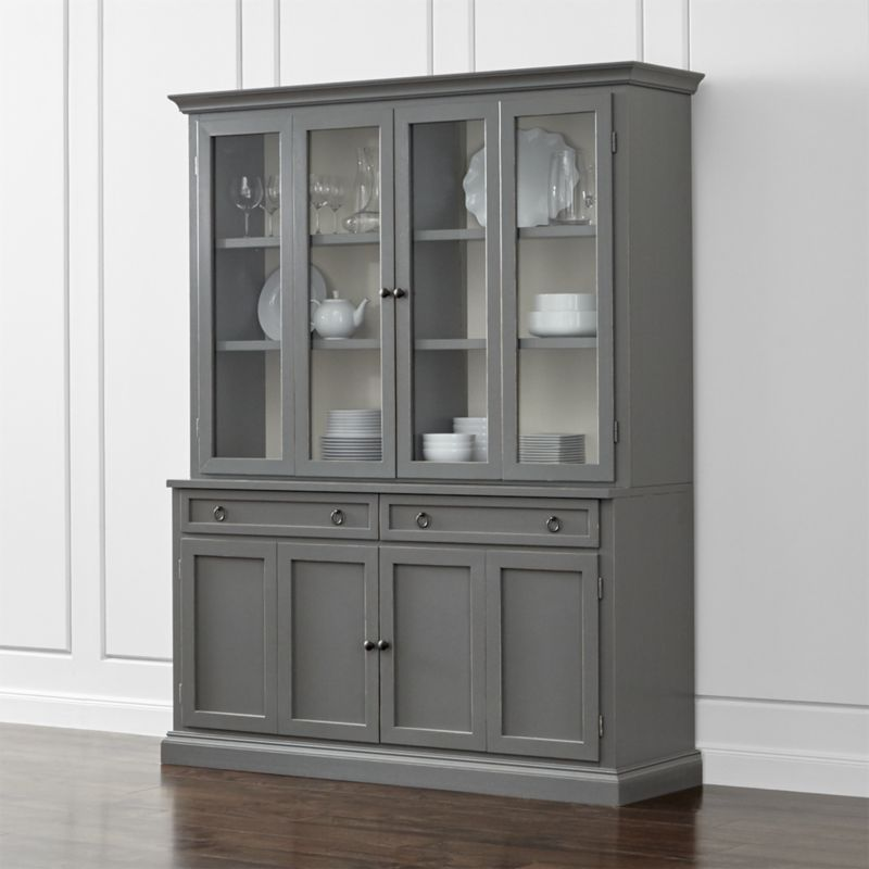Cameo 2 Piece Grey Glass Door Wall Unit