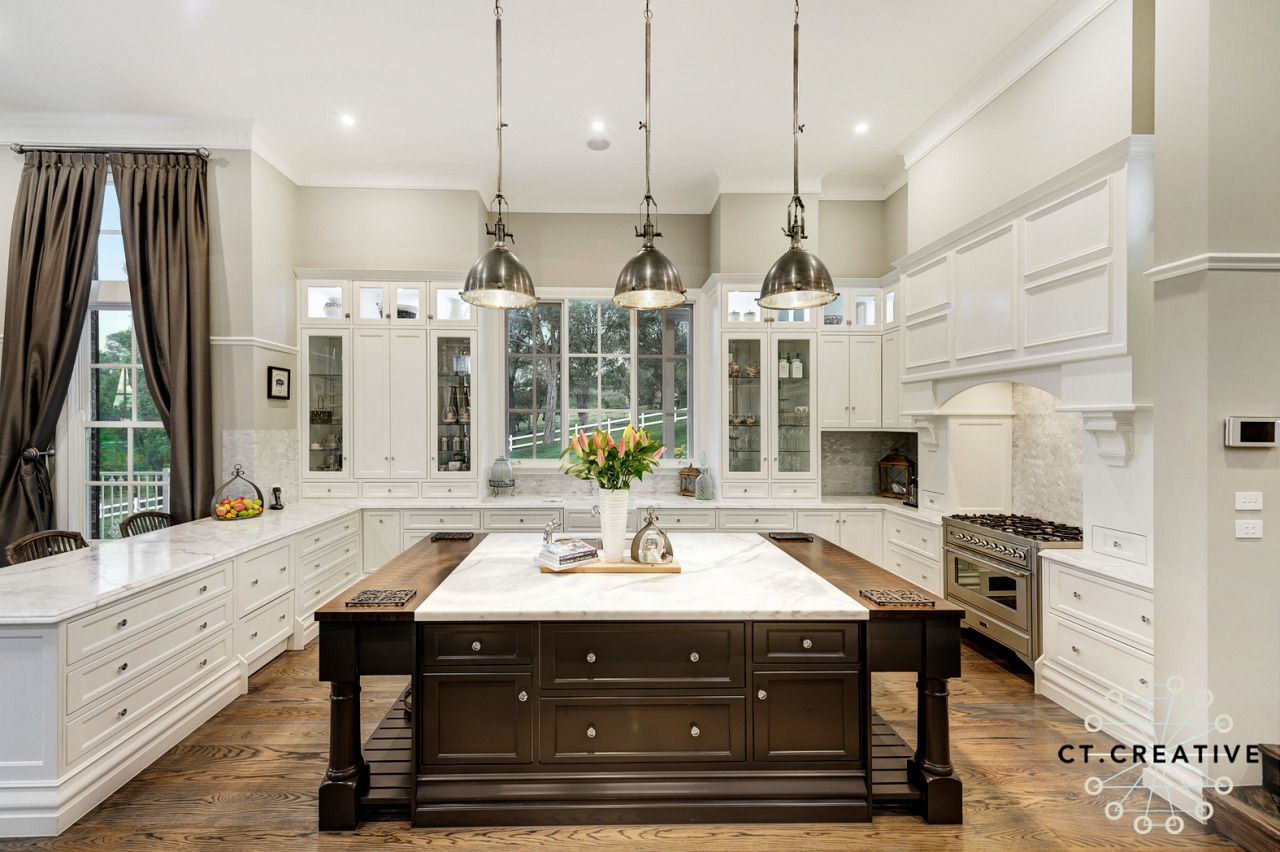 Huge kitchen with square island bench. Melbourne real estate ...