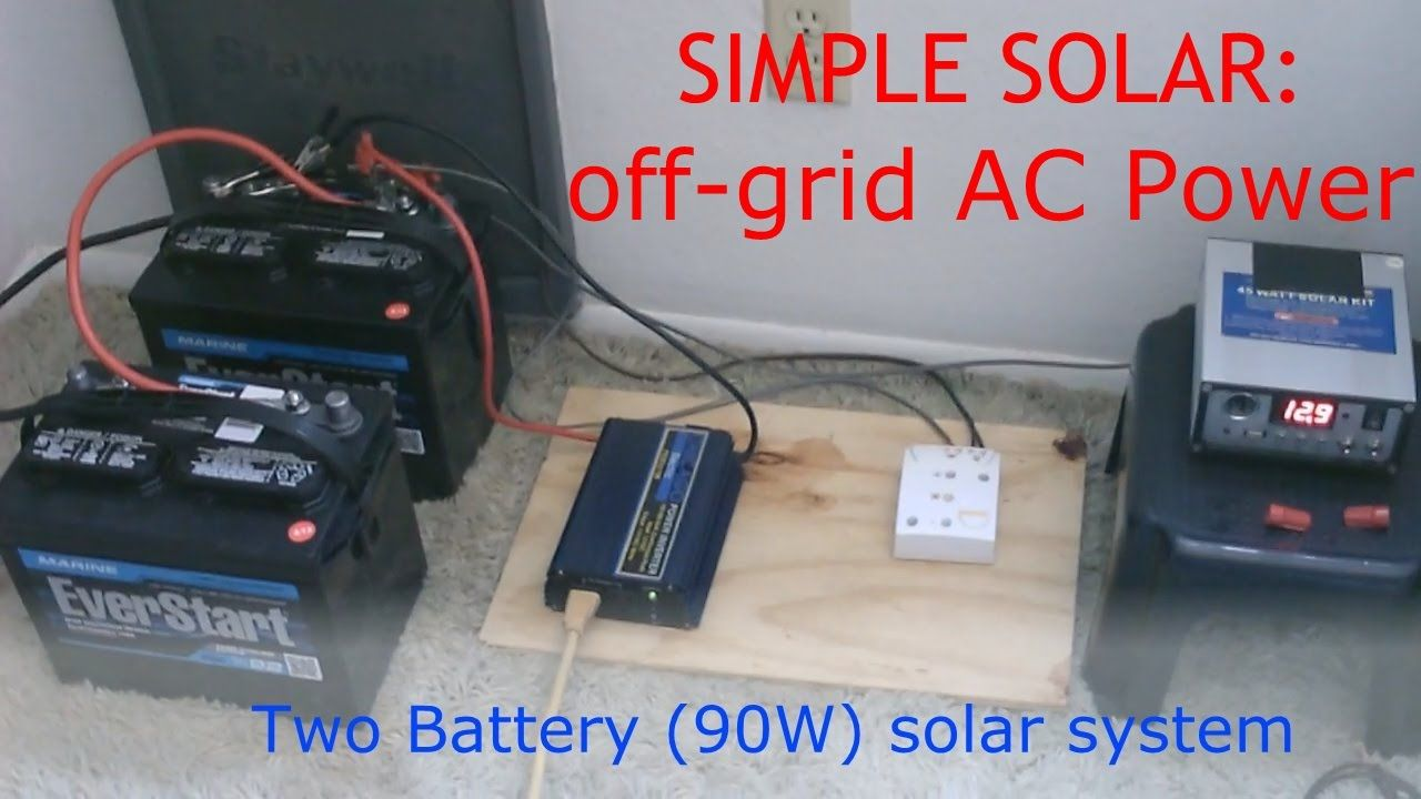 Plug In Your Small Electrical Appliances For Free With A Solar Simple Charging Circuit From Ac System Generator Made Of Two Panels And Car Batteries Cost To Set Up Similar