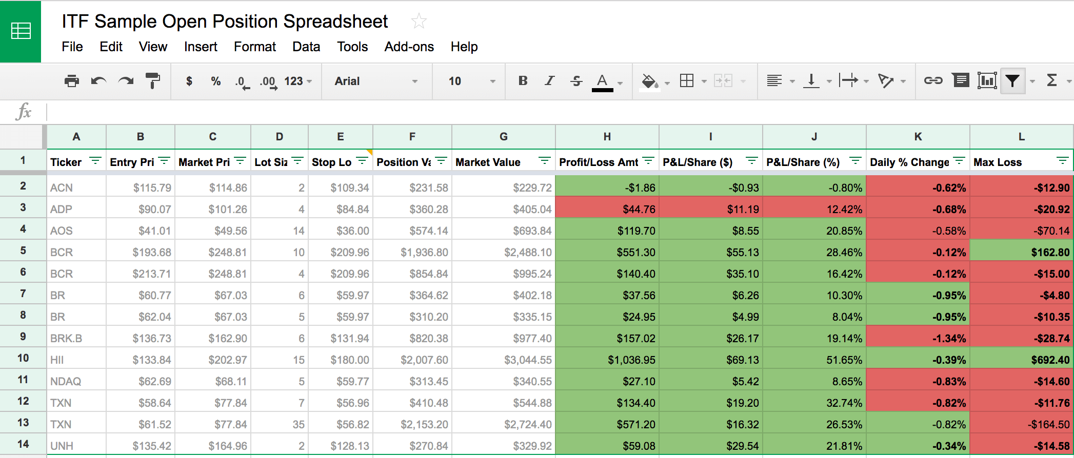 Easily Track Your Stock Trades with a FREE Google Sheets