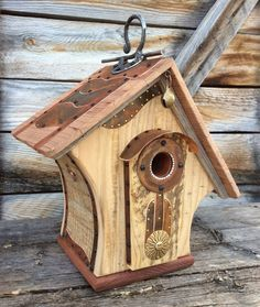 Unique Barnwood Birdhouse Reclaimed Recycled By
