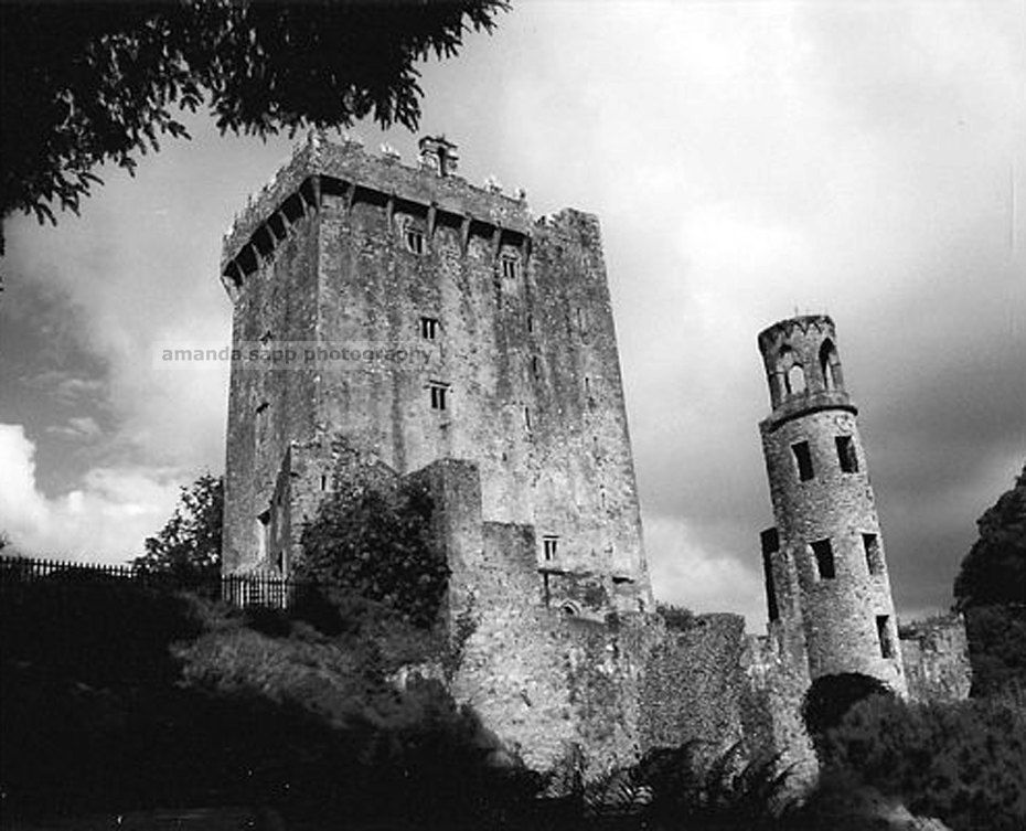 Blarney castle ireland black and white photography