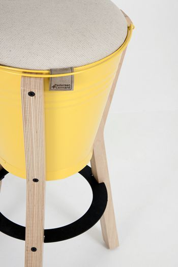 Bucket Barstool From Pedersen And Lennard. Fabric, Paint Colour And Timber  Can Be Specified