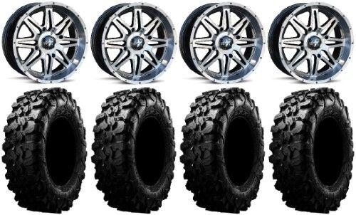MSA Dark Tint Vibe 14' ATV Wheels 32' Carnivore Tires Honda