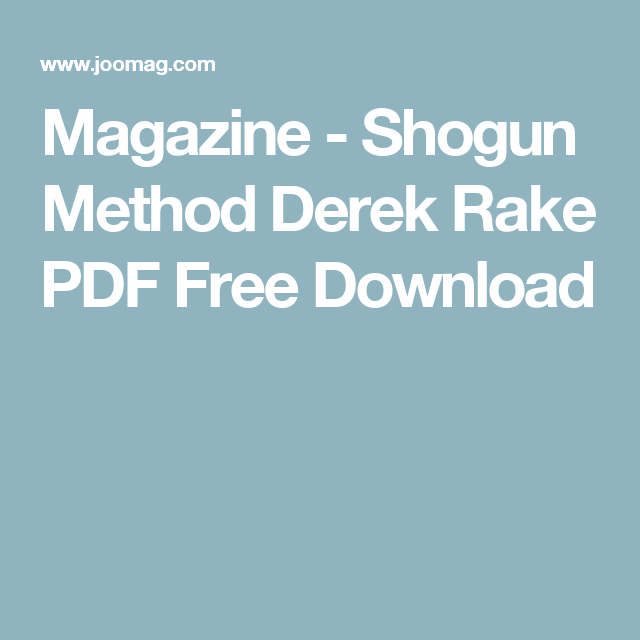 Derek Rake Pdf