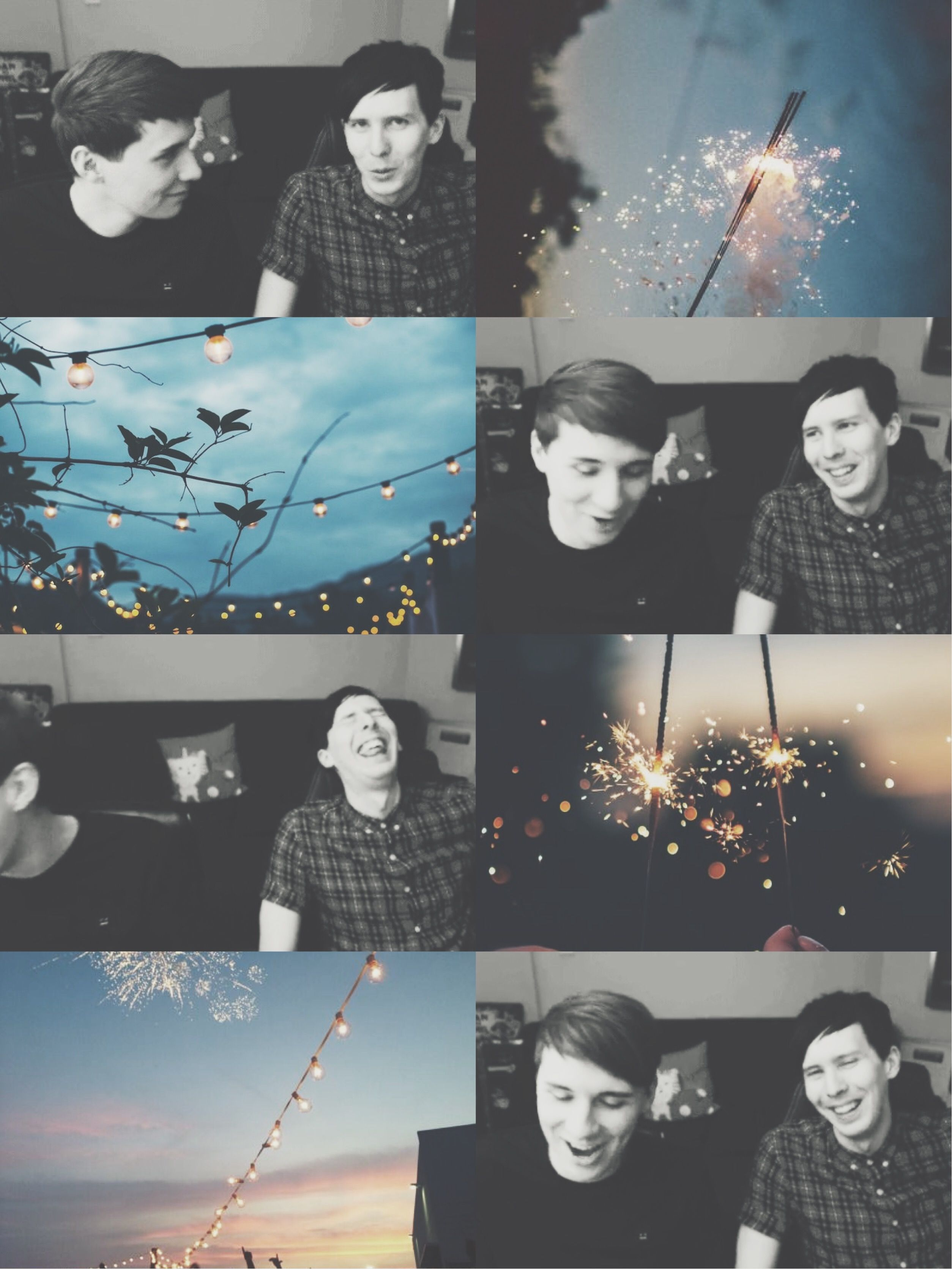 Dan and phil aesthetic ✘edit is mine