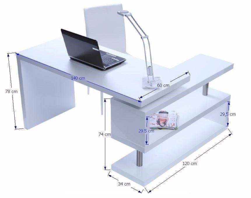 Escritorio ejecutivo minimalista moderno con base giratoria decoracion pinterest - Medidas mesa oficina ...