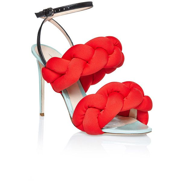 fc93866d693 Marco de Vincenzo Red Braided Sandal (1 360 AUD) ❤ liked on Polyvore  featuring shoes