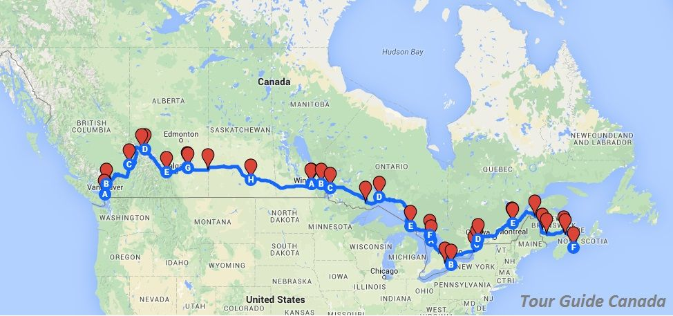 Canada Road Map Book A Cross Canada Road Trip Itinerary. Download the Road Book to