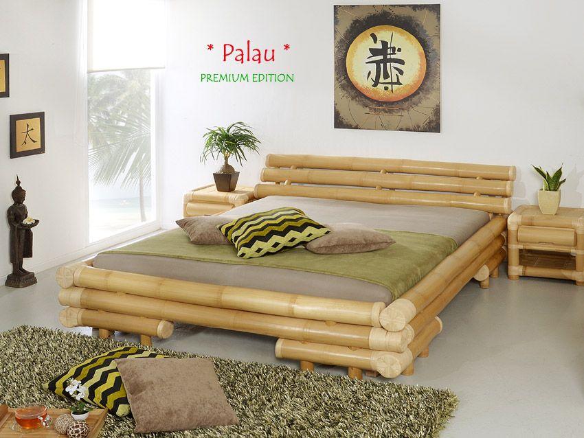 Schlafzimmer Bambus ~ Palau traditionelles bambusbett 180x200 premium edition