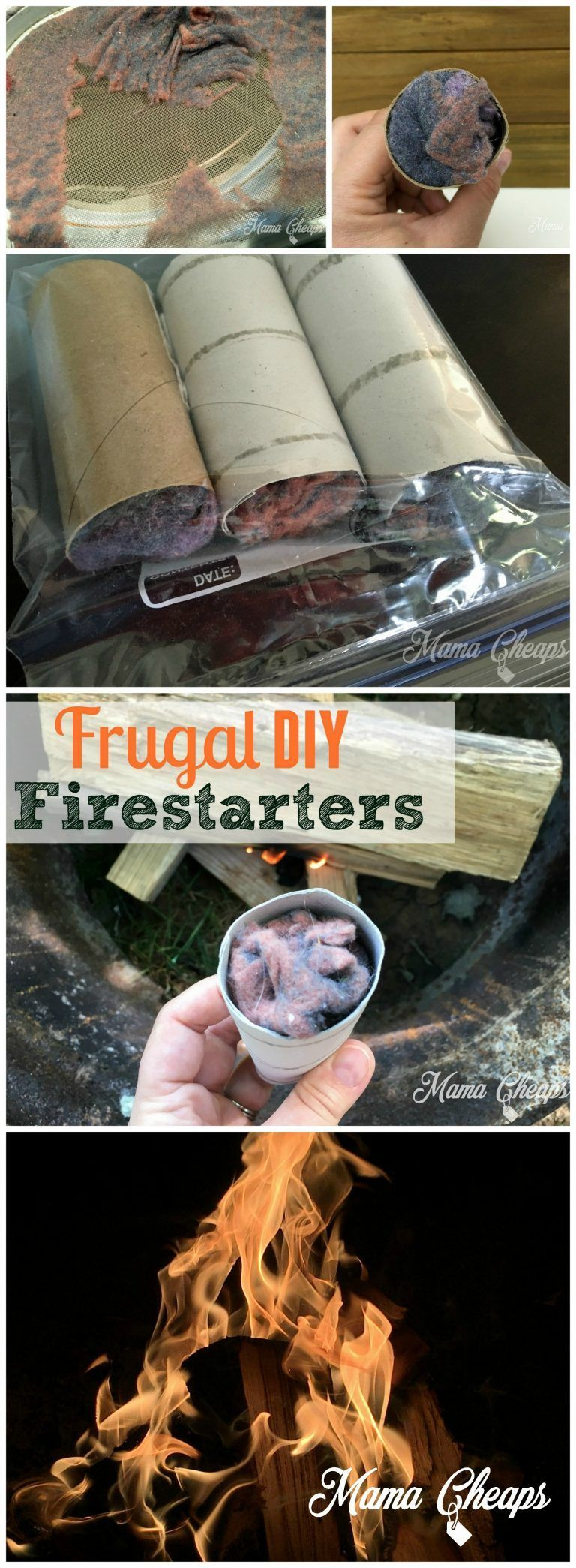 DIY Frugal Campfire Fire Starter Camping Hack | Mama Cheaps