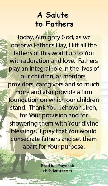 Prayer: Happy Father's Day - A Salute to Fathers | Happy ...