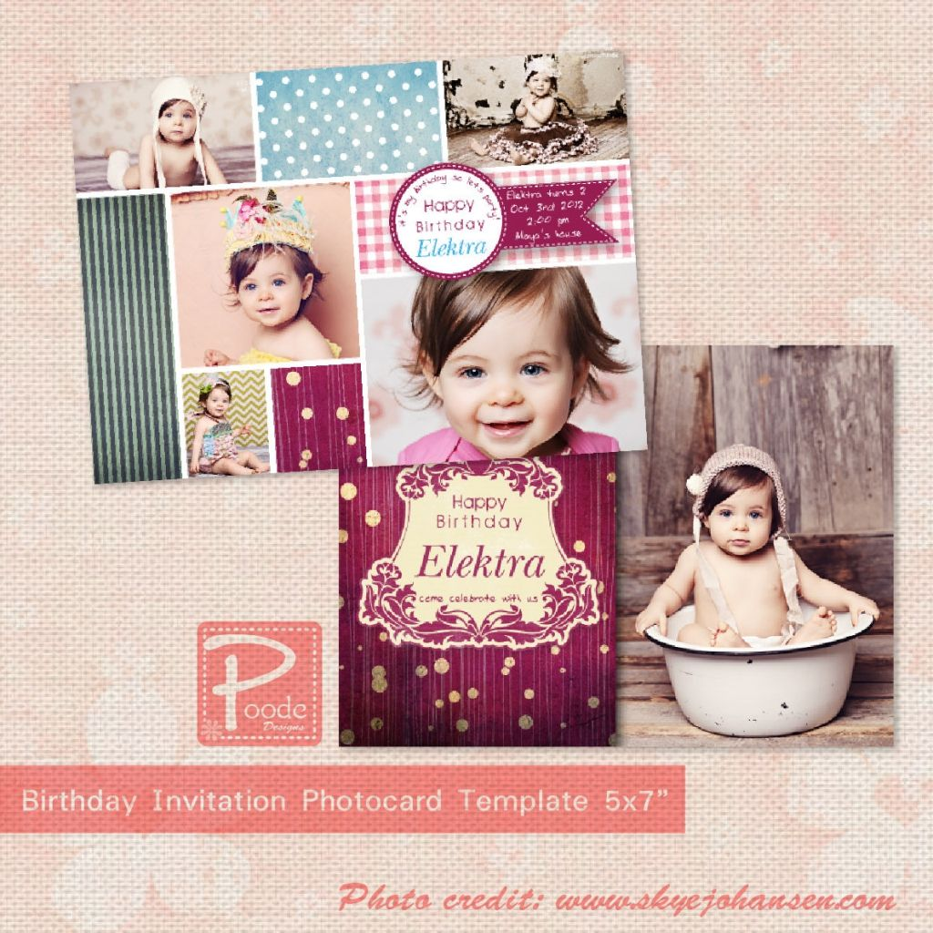 1st birthday invitation templates photoshop places to. Black Bedroom Furniture Sets. Home Design Ideas