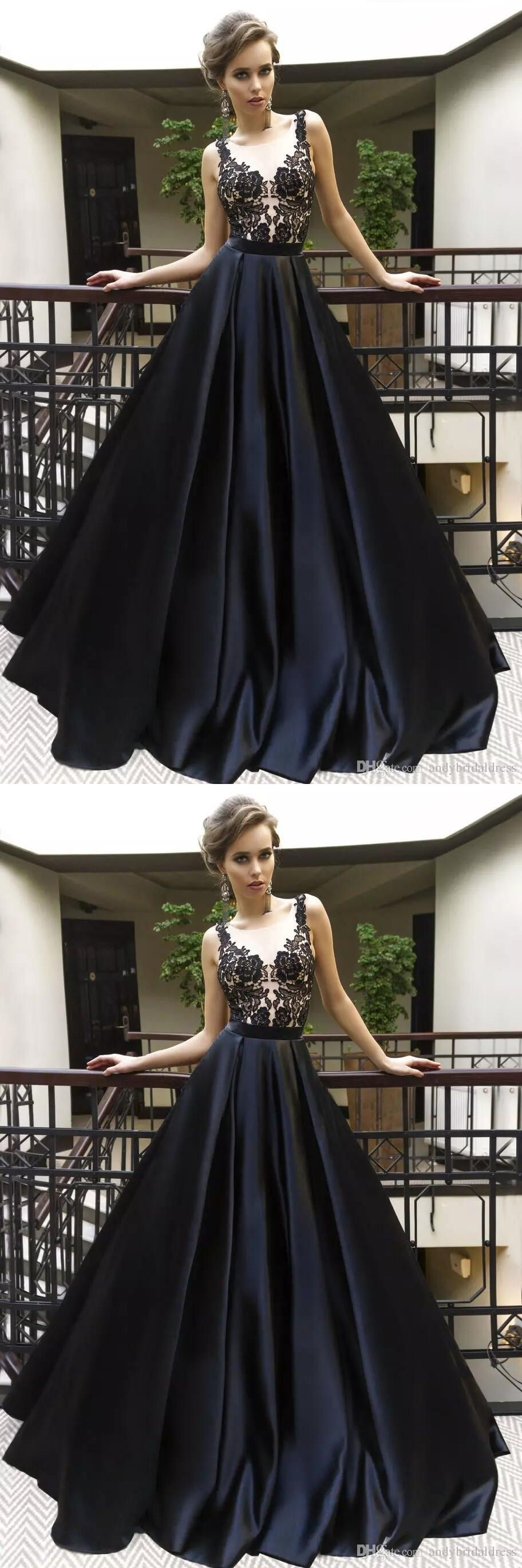 Black prom dress prom dressesevening gown graduation party