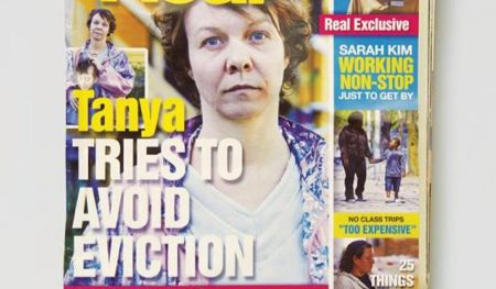 Campaign to highlight the plight of single mothers in style of tabloid magazines.