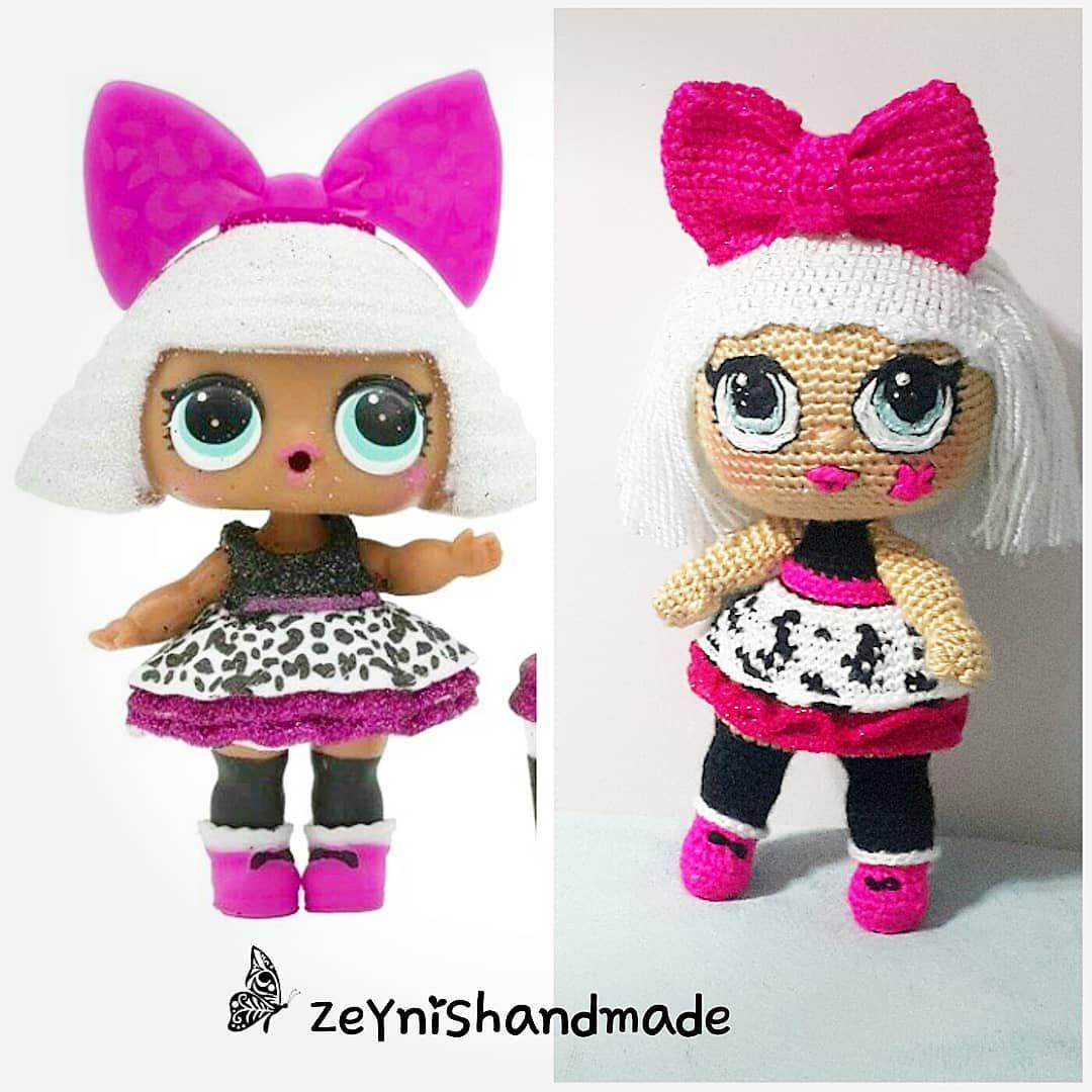 lolbebek #doll #amigurumi #lol Lol bebek @zeynishandmade   Lol ...   1080x1080