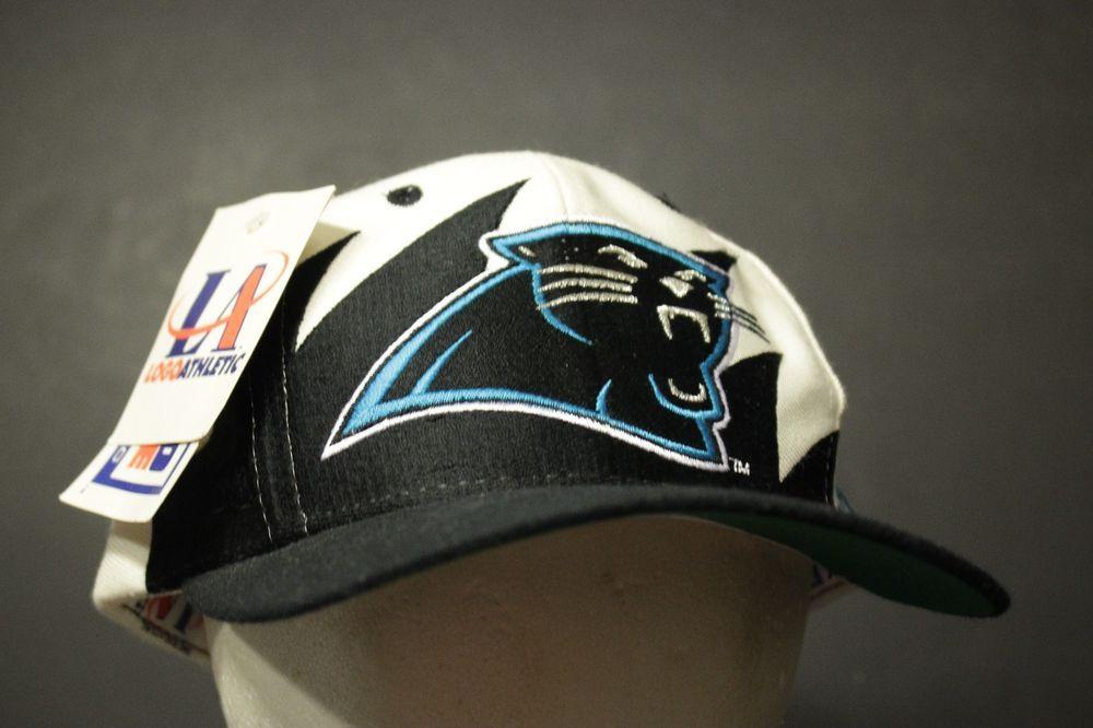 5688bfee3 Vintage Carolina Panthers Snapback Hat Cap Sharktooth Big Logo ...