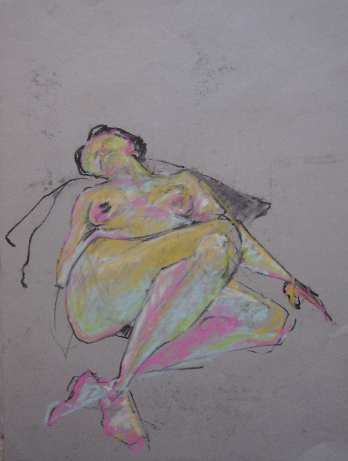 Pastel-Charcoal Figure Drawing-Expressive Colorful Life Drawing-Reclining Female Figure with foreshortening & Pastel-Charcoal Figure Drawing-Expressive Colorful Life Drawing ... islam-shia.org