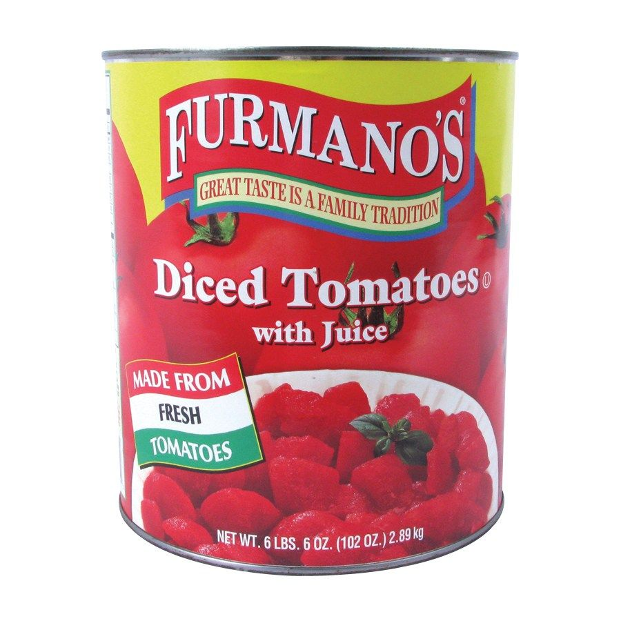 Furmanos Diced Tomatoes with Juice - #10 Can