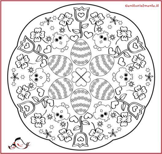 Mandala Di Pasqua Da Colorare Per Bambini Genitorialmente Pasqua