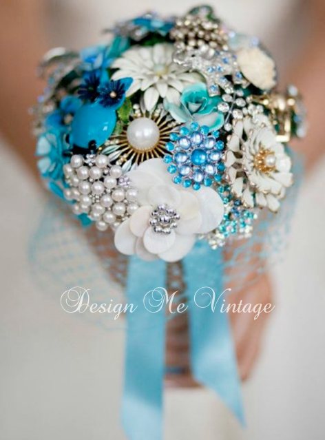 "Brooch Bouquets ""Wild Thing"" Wedding brooch bouquets"