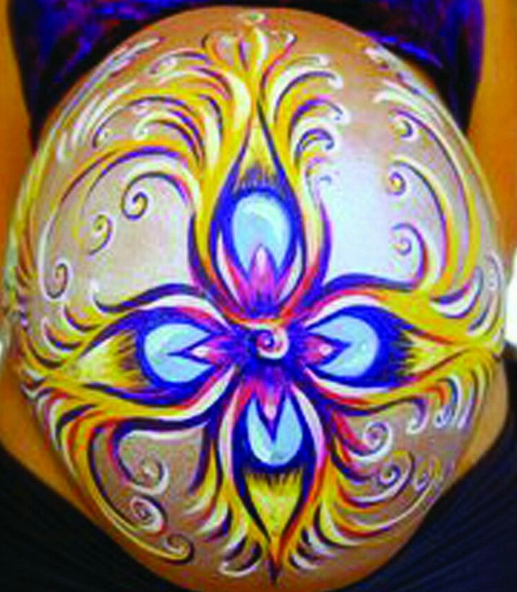 Belly body paint