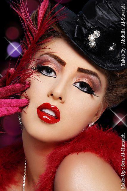 A Night At The Moulin Rouge Burlesque Makeup Cabaret Makeup Rouge Makeup