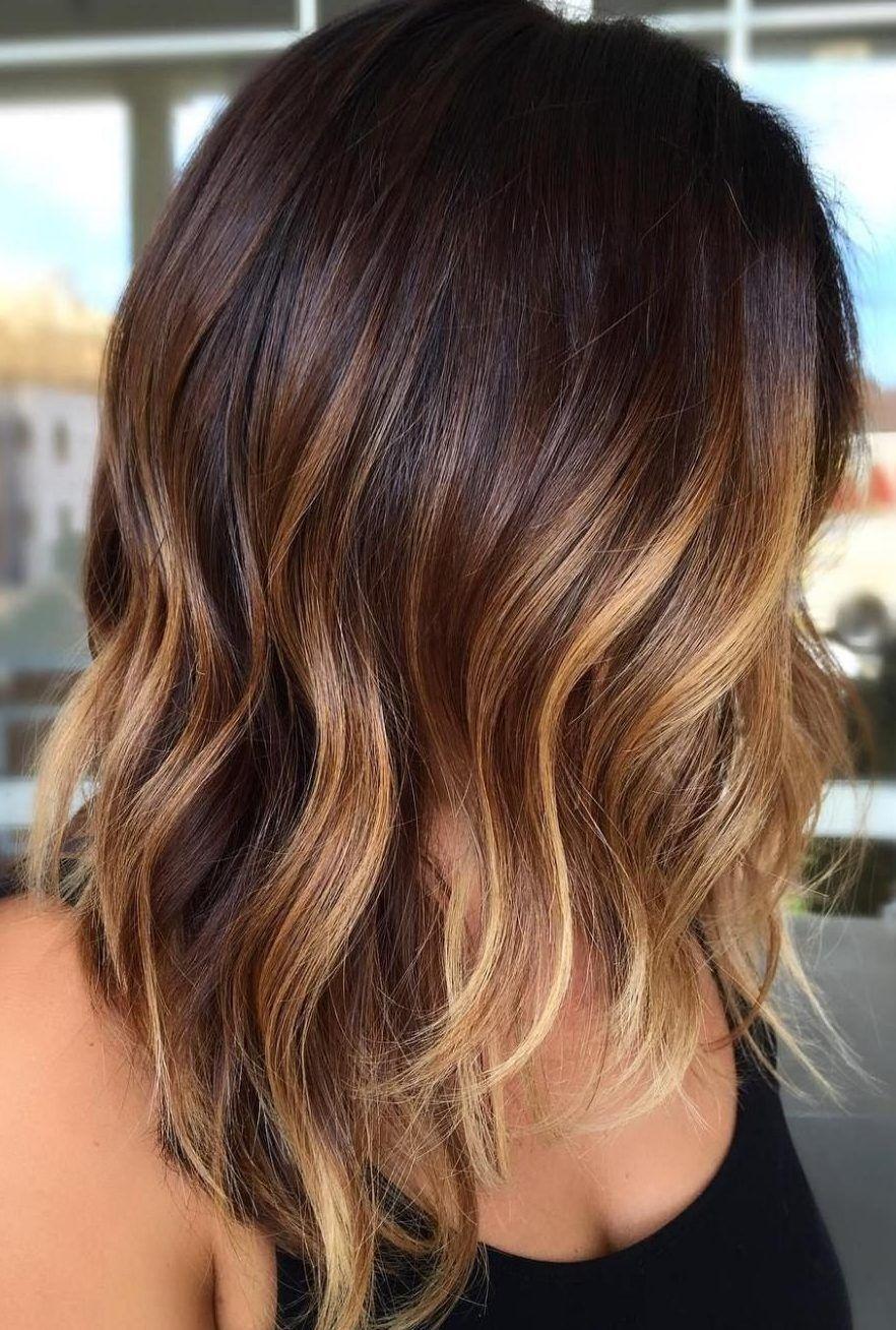 24++ Balayage caramel dark hair ideas