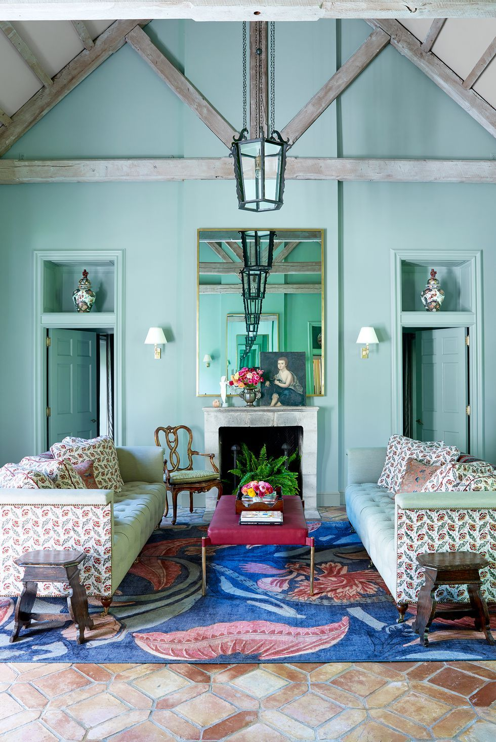 Mint Green Living Room With Blue And Red Carpet Living Room Colors Room Colors Paint Colors For Living Room