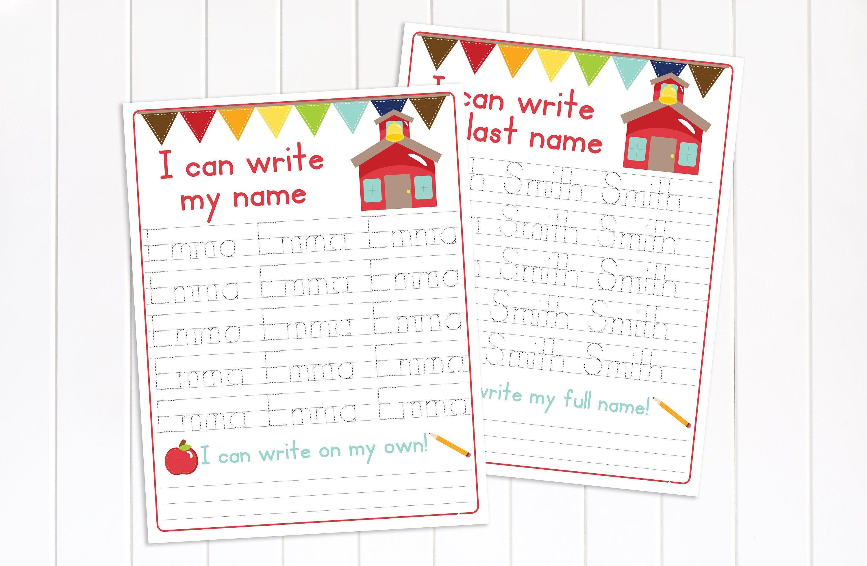 Name Tracing Worksheet Preschool Activity Educational