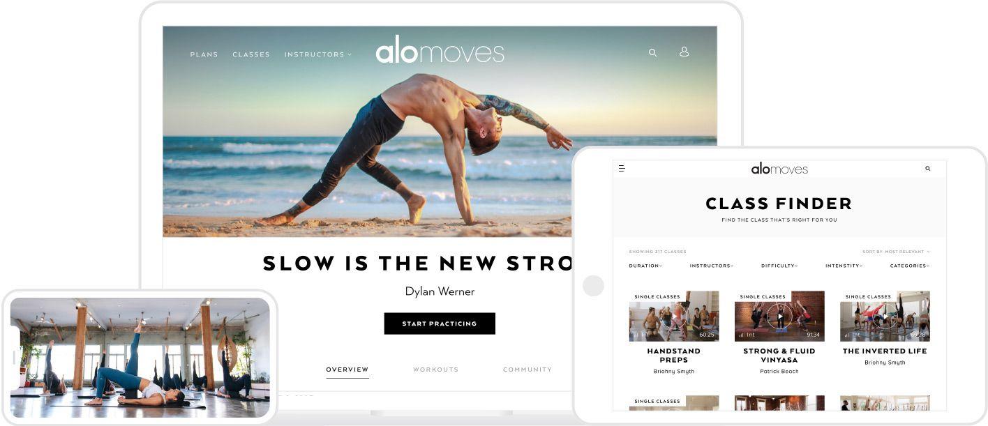 Membership Alo Moves Yoga class, Vinyasa, Meditation class