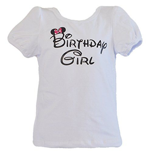 Birthday Girl TShirt WPrinted Pink Bow For 6 Months To 8 Years Old Age 2Pk You Can Find More Details By Visiting The Image Link