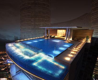 Roof Top Infinity Pool Jacuzzi Pool Beautiful Pools Rooftop Pool Swimming Pool Designs
