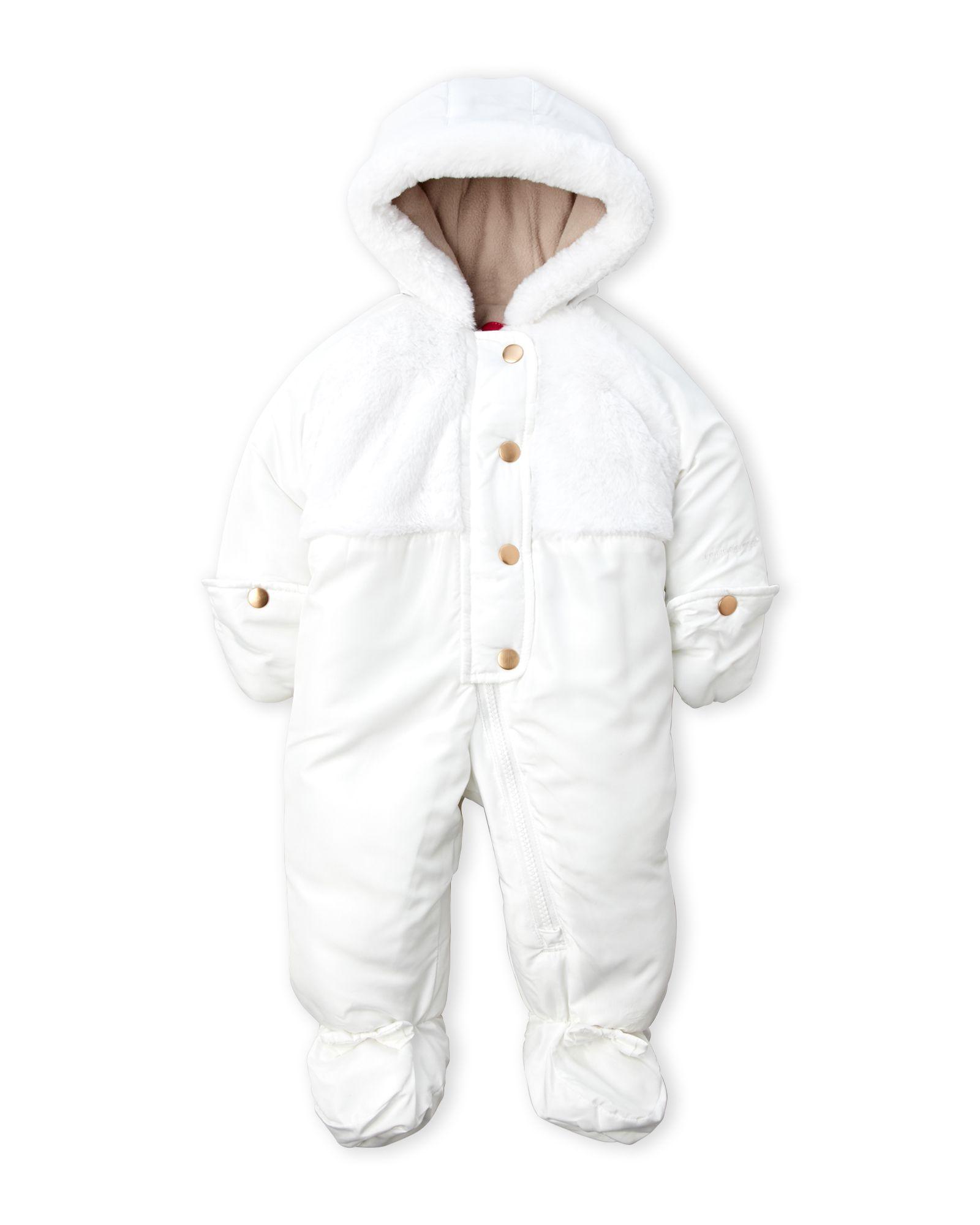 London Fog (Newborn/Infant Girls) Faux Fur Pram