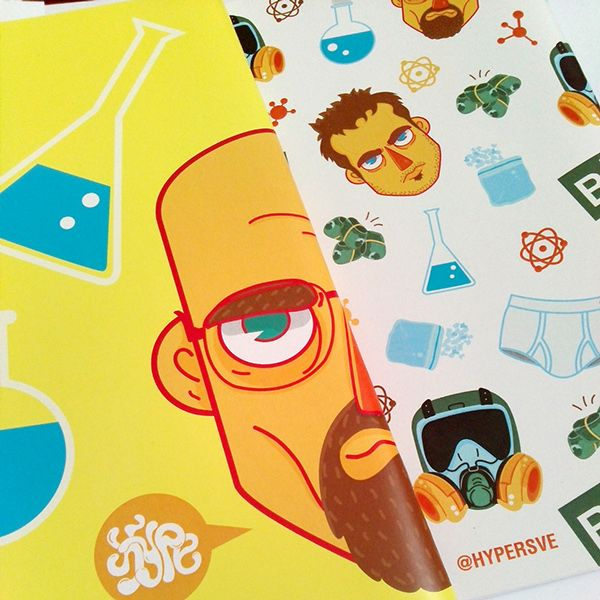 #hypersve #sketchbook #notebook #BreakingBad #pattern #design #illustration #art #draw #drawing #pattern