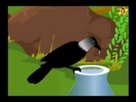 Learn how the thirsty crow solved its problem  A moral story in