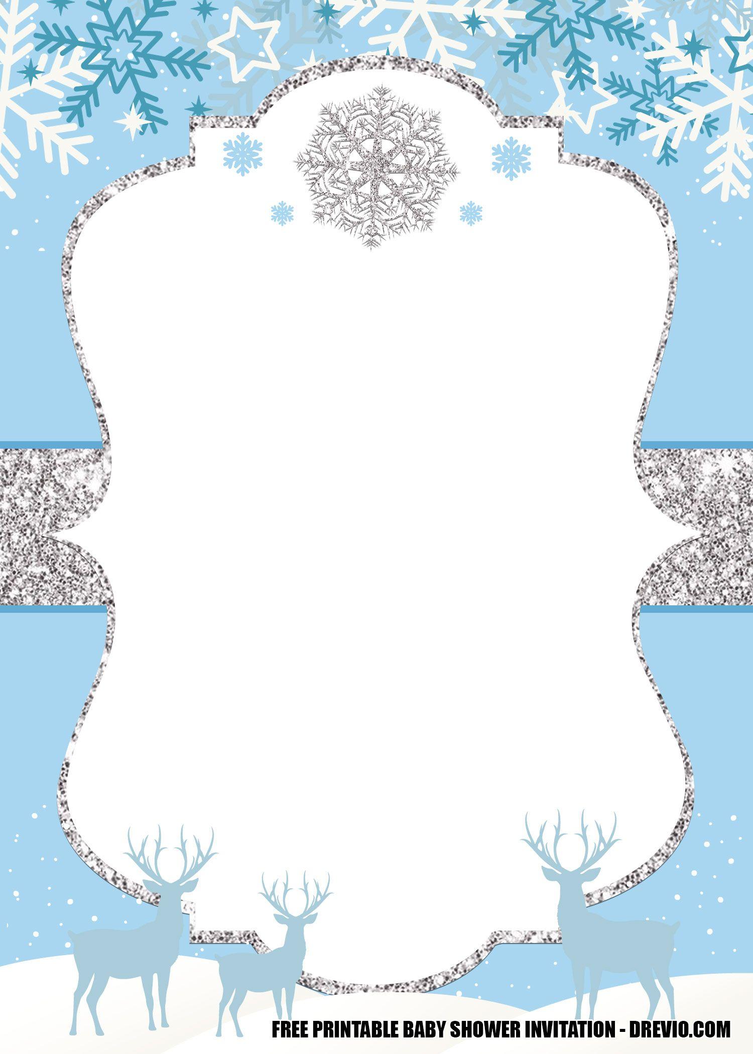 Free Winter Wonderland Baby Shower Invitation Templates Editable Winter Wonderland Invitations Baby Shower Invitation Templates Winter Wonderland Baby Shower