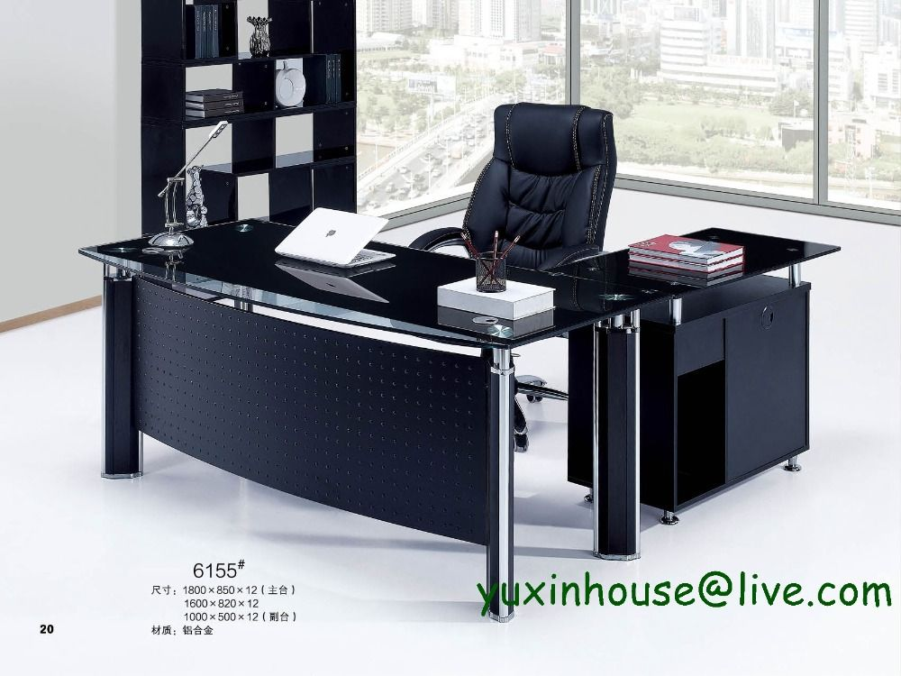 Superb Tempered Glass Office Desk Boss Desk Table Commercial . Commercial Office  FurnitureGlass OfficeModern ...