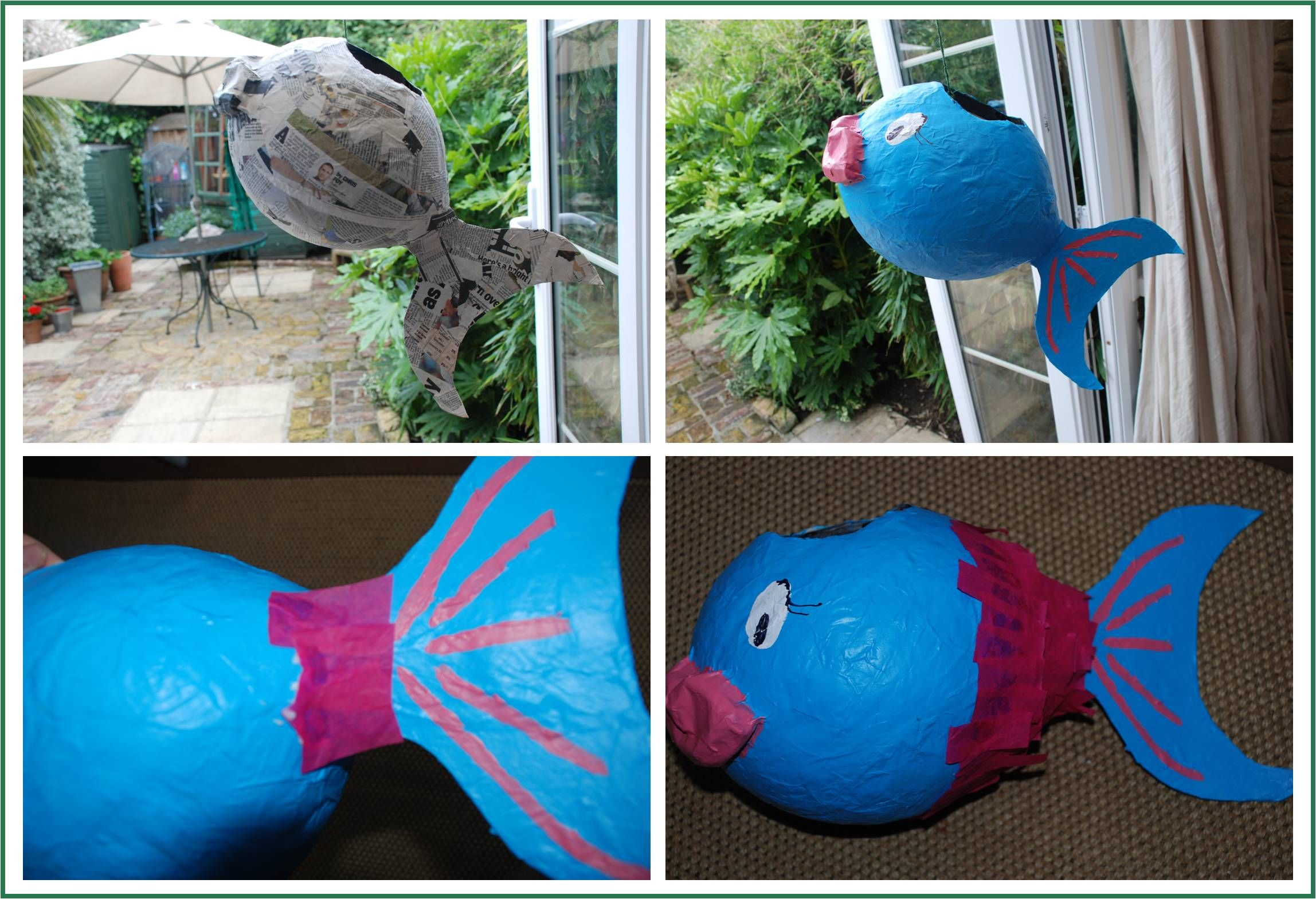 How to.. make a Paper Mâché Piñata Fish | Paper, Make your ...