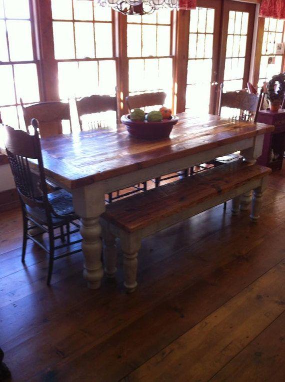 8 foot heart pine farmhouse table living room pinterest rh pinterest com