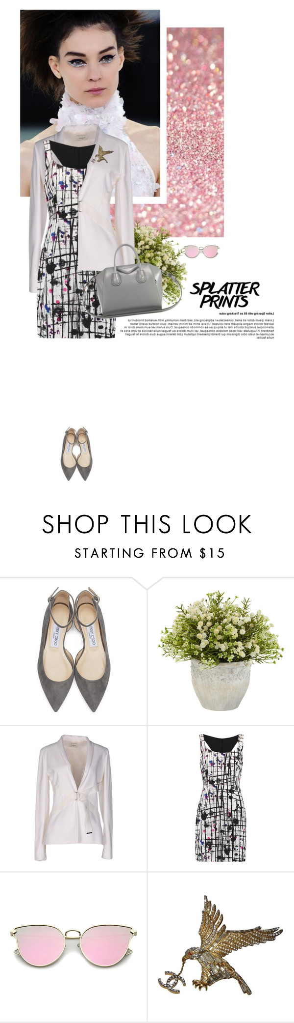 """""""'' Alone, by herself she built the kingdom that she wanted ''"""" by crazydita ❤ liked on Polyvore featuring Chanel, Jimmy Choo, Thierry Mugler, Milly, Givenchy and paintiton"""