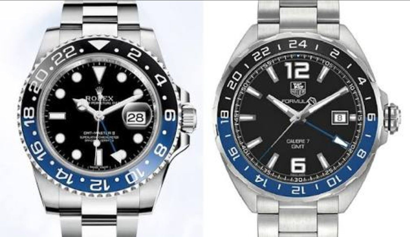 6890be8fdd009 Rolex Batman and Tag Heuer GMT